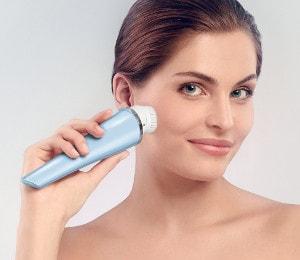 Poren verkleinern mit Gesichtsbürste